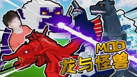 龙与哥斯拉怪兽MOD,麻辣小龙虾,我的世界PE【XY瞎玩】