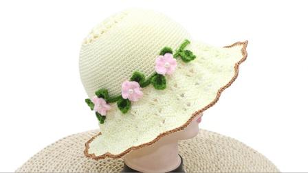 姐妹们跟我一起凤尾花夏凉帽吧,甜美又大方,遮阳又凉爽哦