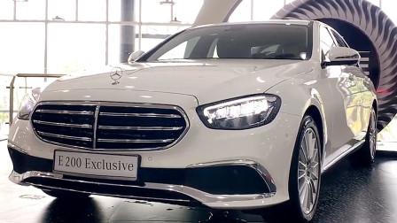 新车到店,实拍2021款全新奔驰E级,亮起氛围灯霸气开始,太帅了