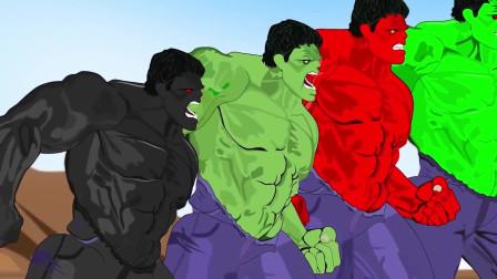 绿巨人兄弟群殴斧头怪 动漫特效