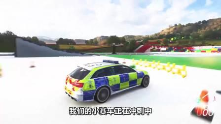 彩色汽车游戏:赛车的速度太快了!