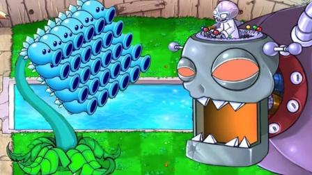 僵尸博士带领他们部下进攻花园,寒冰射手会如何应对?