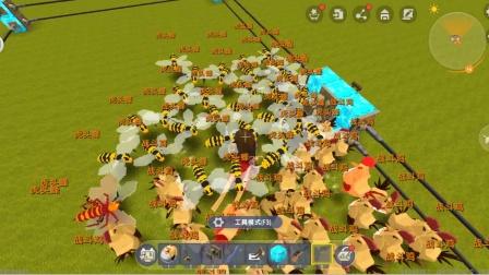 迷你世界飞龙解说:50个战斗鸡大战50个虎头蜂