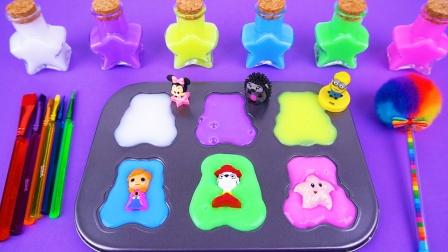 趣味儿童玩具 彩色果冻泥里藏着小玩具