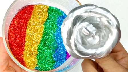 液态玻璃VS彩虹闪粉,最后竟然没有翻车?过程也太美丽了吧!?