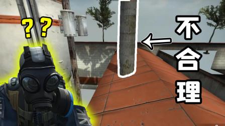 CSGO躲猫猫:屋顶上插根树,敌人完全没发现,你说这合理吗?