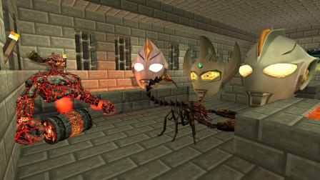 GMOD游戏小黑在地牢发现了被怪兽封印的奥特曼