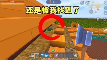 迷你世界:表妹趴在房顶下面,还是被我找到了!