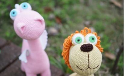 「第158集下集」萌系动物家族通用眼睛部位 钩针玩偶 毛线娃娃