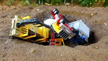 最新挖掘机工程车表演4,工程车怎么了?