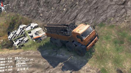 旋转轮胎:我拉着一车木头,同时拉着大卡车上坡,太给力了!