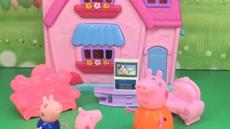 乔治的分数真搞笑,把猪妈妈都逗乐了