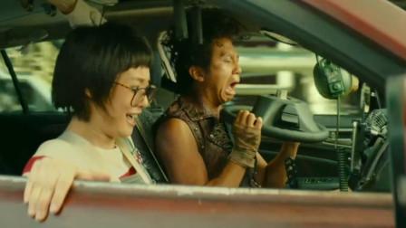 恶棍天使:邓超经典怒路症,开车把方向盘扔了,什么操作
