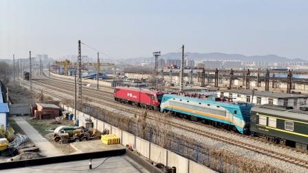 【火车视频   送别即将淡季停运的K716,K550回送SS9,0K929使用HXN3牵引】大连站车迷候车室441-过眼云烟