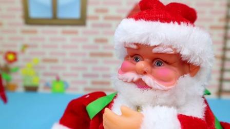 奥特曼消灭怪兽 圣诞老人出现送来圣诞礼物