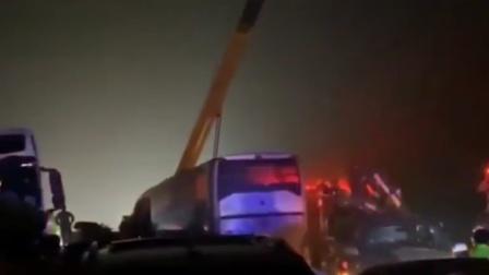 宁洛高速发生多车连环相撞事故:多个高速入口临时封闭