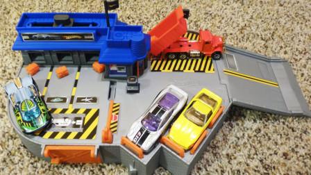 拼搭邮局停车场玩具