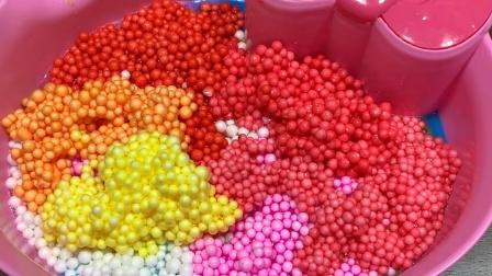 太漂亮了!用彩虹裱花袋混泥,七彩胶水混合瞬间超惊艳,无硼砂