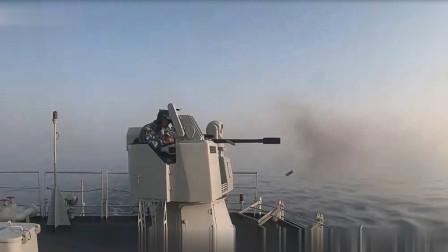 可攻可防可支援!实拍海军补给舰舰炮火力全开打击水上目标