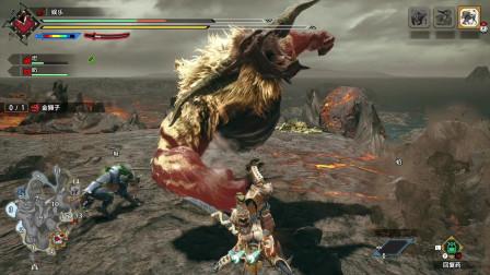 怪物猎人崛起:练习太刀金狮子,速度不够快,但是这场够帅!