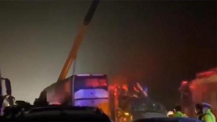 安徽宁洛高速近10辆车相撞挤成一团 伤亡及事故原因正在调查中