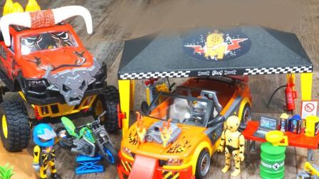 展示赛车摩托车玩具