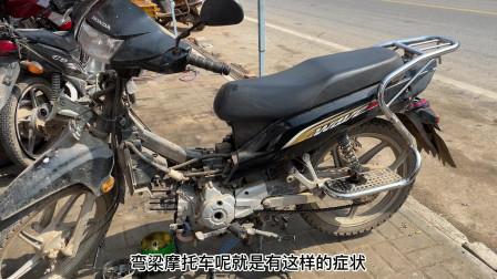 粗心的车主给摩托车做保养;拆错螺丝后骑行直接导致发动机报废
