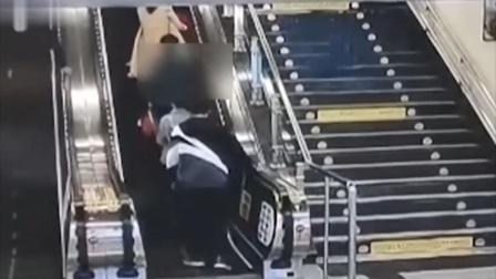 男子尾随女性亲吻大腿被拘10日 监控拍下可怕一幕