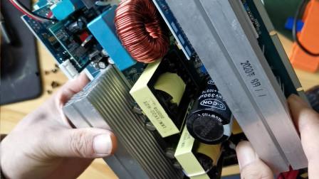 实标1200瓦正弦波逆变器拆解!大家看看内部做工怎么样?