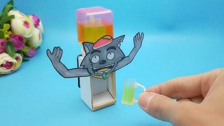 自动迷你饮水机这样做真好玩,利用塑料瓶改造一下,小朋友很喜欢