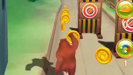熊出没之熊大快跑-一根巨木拦在熊大面前,你以为它跳不过去吗?
