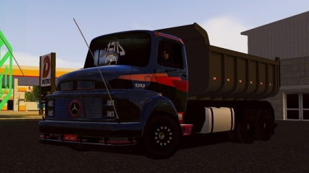世界卡车模拟-奔驰13136x2长头自卸车(1)