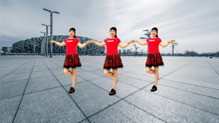 广场舞《傻傻的爱傻傻的等待》32步恰恰风,老歌新跳,简单又好看