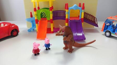 粉红佩奇被救记:三颗棉花糖可召唤奥特曼从怪兽那救出粉红佩奇!