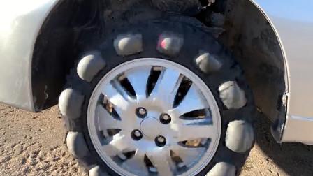 外国土豪拿汽车做实验,往轮胎里面灌可乐加泡腾片,有钱就是任性呀!