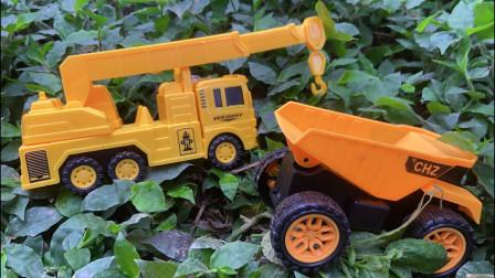 挖掘机、吊车、翻斗车、铲车究竟藏在了哪里?15种工程车玩具