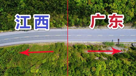 实拍广东省与江西省交界处,马路对比后,没想到差别真大