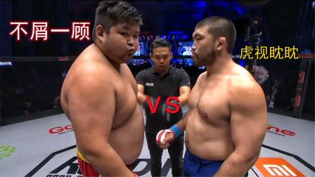 中国300斤巨兽敖日格勒vs韩国肌肉男,对手被敖日格勒压着打