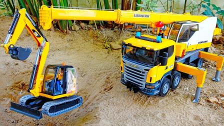最新挖掘机工程车表演你想也想不到的结果