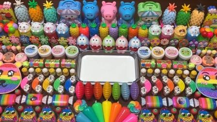 太壮观了!用100多种卡通玩具混泥,大人小孩都爱玩,无硼砂
