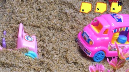 工程车故事:小汽车遇险情,蚂蚁救援队来帮忙