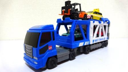 组装双层运输卡车玩具
