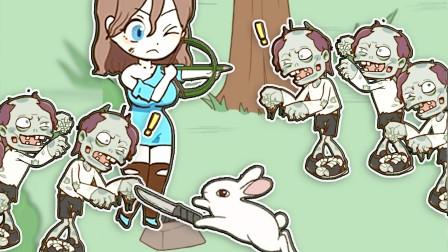 逃离僵尸:弓箭是怎样做成的?小姐姐真是下了一番功夫!