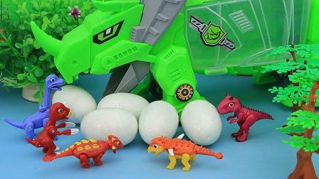 恐龙蛋里的小恐龙宝宝 真可爱