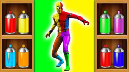 亲子早教动画给超级英雄涂色学颜色