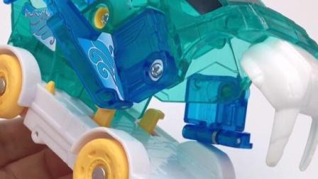 爆裂飞车海王魔象,变形小汽车玩具!