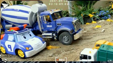 挖掘机与推土机工作表演视频 趣味益智