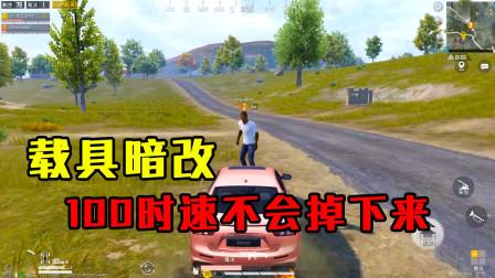 """和平精英揭秘:载具暗改,100时速""""站在车头"""",玩家不会掉下来!"""