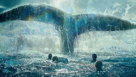 真实海难改编,100米长的鲸鱼王报复人类,仅靠尾巴便掀起巨浪