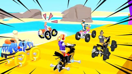 涂鸦骑士:我给自己画个摩托车轮子,把其他选手远远甩在身后!